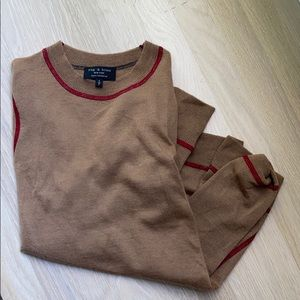 rag and bone 100% cashmere brown sweater size s